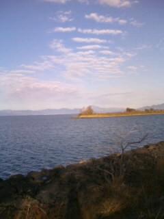 琵琶湖の神様に、又々感謝の音色を♪